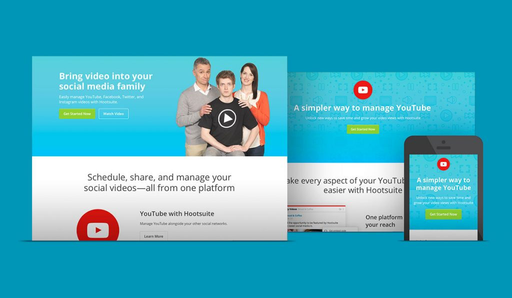 screenshot of Hootsuite YouTube campaign